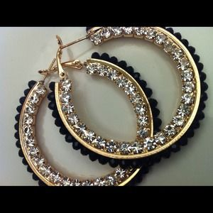 Black & Gold Earrings