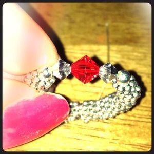 Handcrafted Swarovski crystal ring!!