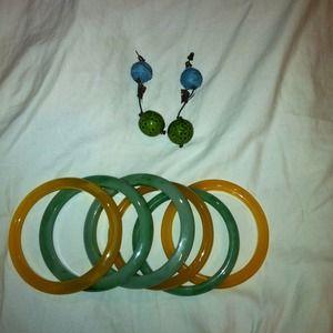 Bangles and earrings bundle