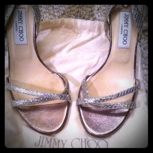 Jimmy Choo India Glitter Sandals