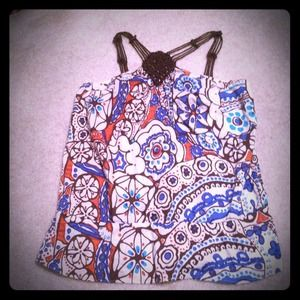 BCBGirls Tops - Sleeveless flower patterned top