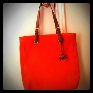 Michael Kors Handbags - MK authentic bright tangerine handbag