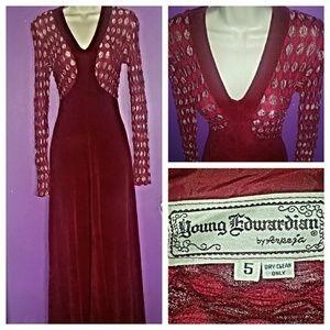 Vintage Velvet Maxi-dress