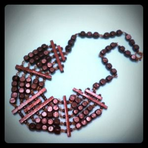 Used, Abacus wooden beads statement necklace for sale