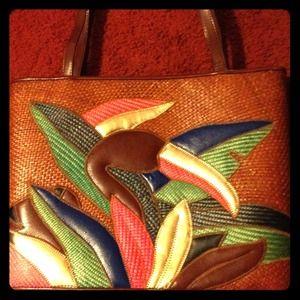 Vintage Buntal Handbag