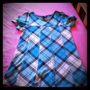 Turquoise plaid H&M dress