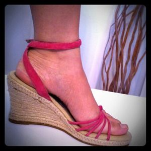 Nordstrom B.P. Shoes - 🌟Brand New✨Pink Suede Leather Strap Wedge