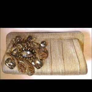 💥Flash sale 💥Gold clutch purse crystals