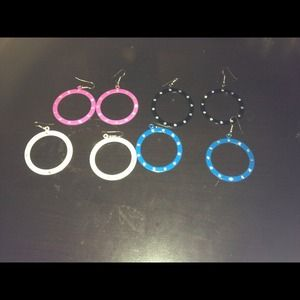 Jewelry - REDUCED Color hoop Earrings purchased @ $10 each