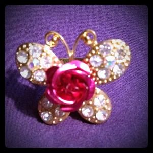 Jewelry - Pink butterfly ring