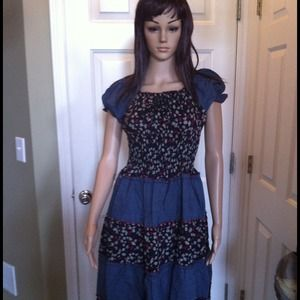 Dresses & Skirts - ♦RESERVED♦DENIM Summer dress and gloves