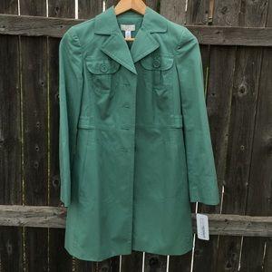 New Loft trench teal coat
