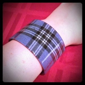 Jewelry - Blue plaid cuff bracelet