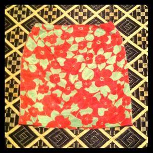 BUNDLED: Talbots floral shimmer skirt