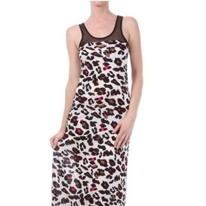 REDUCED price!!! Animal Print Mesh Maxi Dress