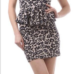 Dresses - Reduced Animal Print Peplum Dress 2