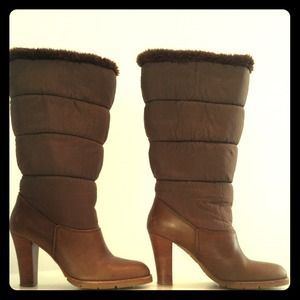 Michael Kors Collection brown snow boots