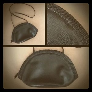 Handbags - Black Faux (?) Leather Crossbody Bag
