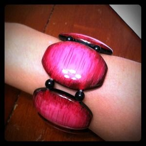 Jewelry - Hot Pink and Black Bracelet