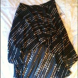Sheer layered skirt.
