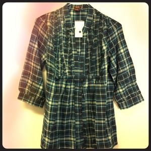 Tops - Brand New✨Plaid 3/4 Top