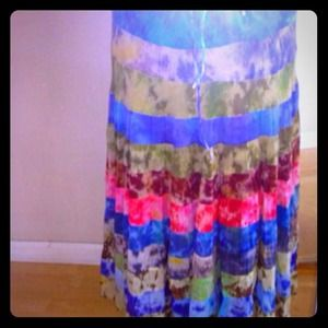 🌟REDUCED🌟BOUTIQUE BOHO CHIC TIE DYED MAXI SKIRT!