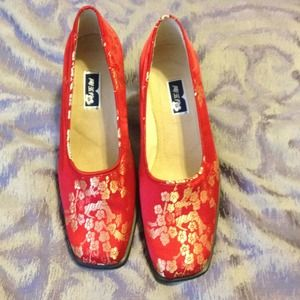 Brand new chinese brocade shoes