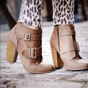 Shoes - Buckle booties