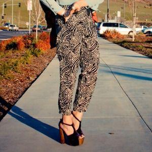 H&M Pants - H&M zebra/leopard pants