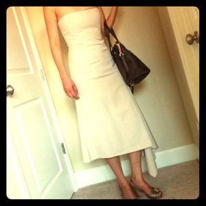 BCBGMaxAzria Dresses & Skirts - NWOT BCBG strapless dress (nude color)
