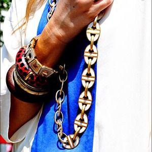 Zara Tops - Zara color blocked bright blue and cream blouse