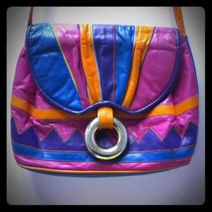 Handbags - Reserved: Vintage leather colorblock  purse