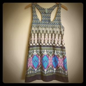 Dresses & Skirts - racerback ikat print dress