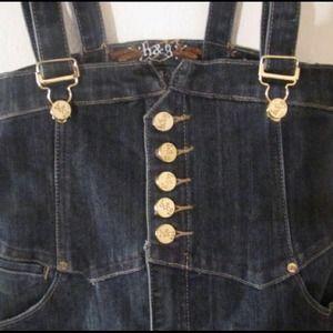 Denim Skirt Overalls 🆒