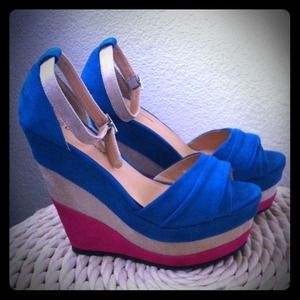 Shoes - RESERVED FOR @DEYITA: bright colorblock wedges