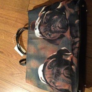 Bulldogs denim handbag.
