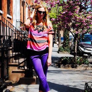 Zara Tops - Zara Bright Striped Tee