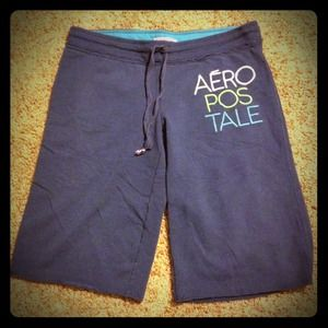 Aeropostale  Pants - BUNDLE navy shorts, grey Capri, yellow Capri sweat