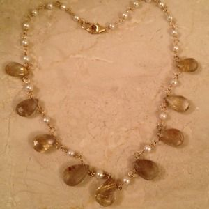 Jewelry - SOLD! 💍Quartz, gold & pearl necklace💍