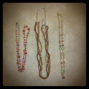 Jewelry - A string of necklaces