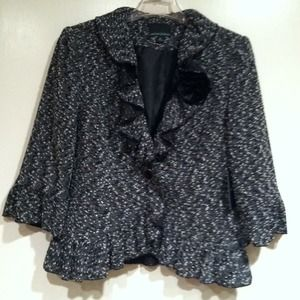 Jackets & Blazers - Very cute black and white lightweight blazer.