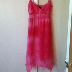 Hot pink tie-dye dress