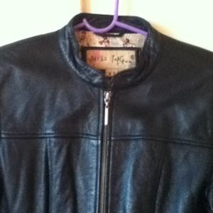 miss top gun Jackets & Coats - Black Leather Biker Jacket