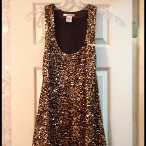 Alice+Olivia gold sequin dress