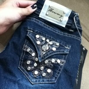 Denim - BNWT Sexy Studded Stretch Denim Skinny Jeans