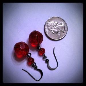 Jewelry - SOLD BUNDLE Red Beaded Earrings!!