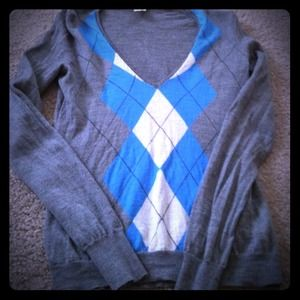 J. Crew Sweaters - Sold! J Crew argyle V neck sweater