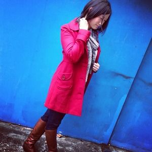 Tulle Jackets & Coats - RESERVED Red coat for @haolepinay