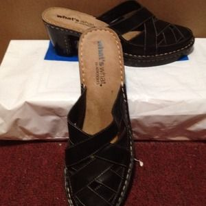 💢💢Leather basket weave mules👡    💢REDUCED