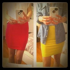 Dresses & Skirts - ❌SOLD❌@rwong02-hot pink/limegreen skirt bundle